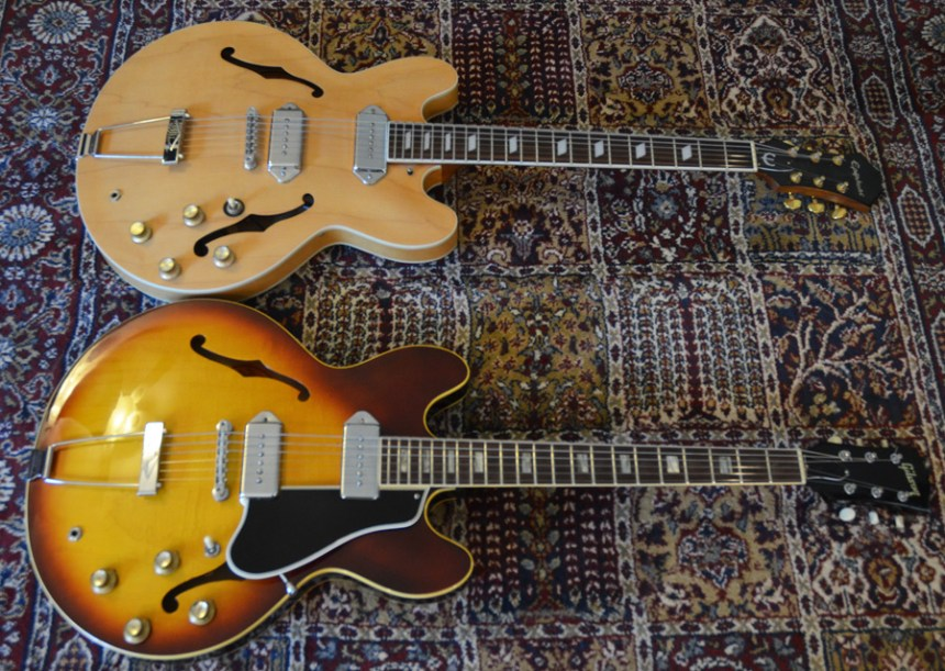 Epiphone Casino and Gibson ES-330