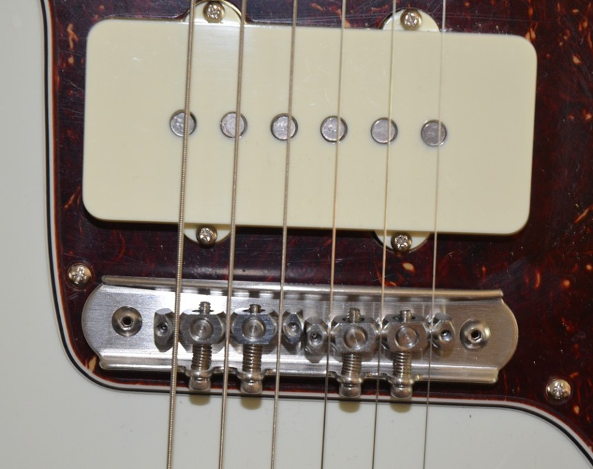 Mastery Bridge installed on Fender Jazzmaster