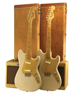 1957 Fender Musicmaster and 1959 Fender Duo-Sonic