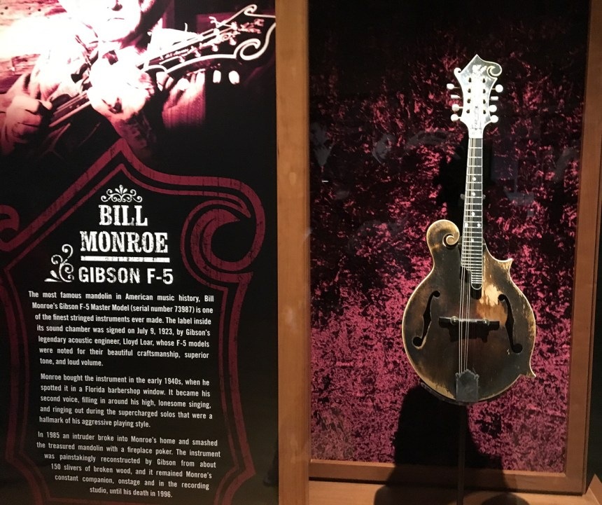 Bill Monroe's F-5 at the Country Music Hall of Fame in Nashville