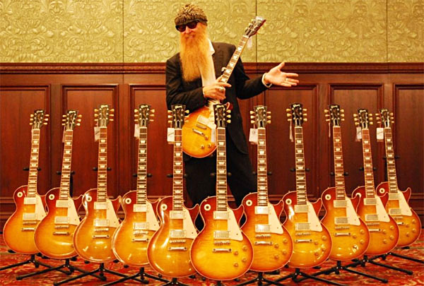 Billy Gibbons Signature Pearly Gates Les Pauls