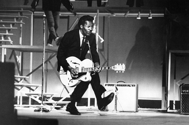 "Chuck Berry's ""duck walk"""