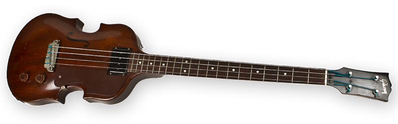 "Gibson EB-1 had ""banjo"" style tuners"