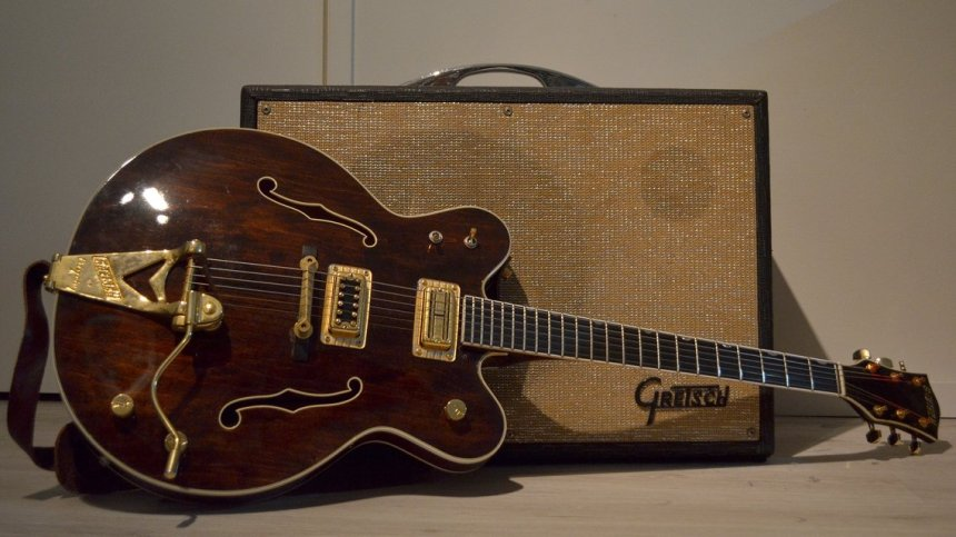1980 Gretsch 7176 guitar and Gretsch branded amp