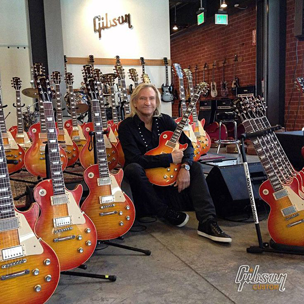Joe Walsh signing his Signature Les Pauls
