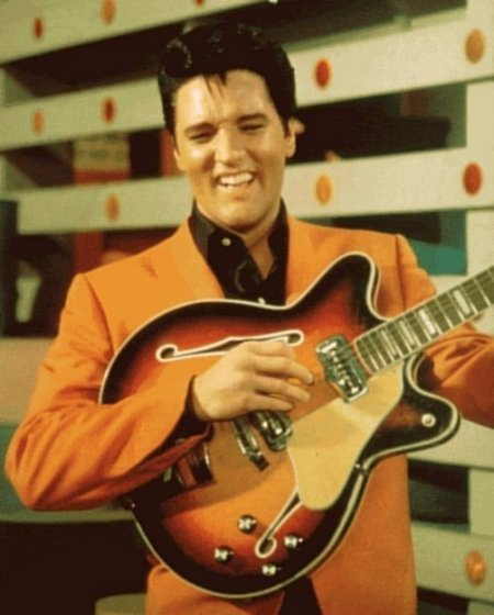 Elvis in Speedway with Fender Coronado