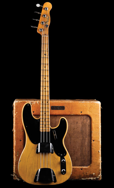 1952 Fender Precision Bass with a 1952 TV front Fender Bassman 1x15 combo amp