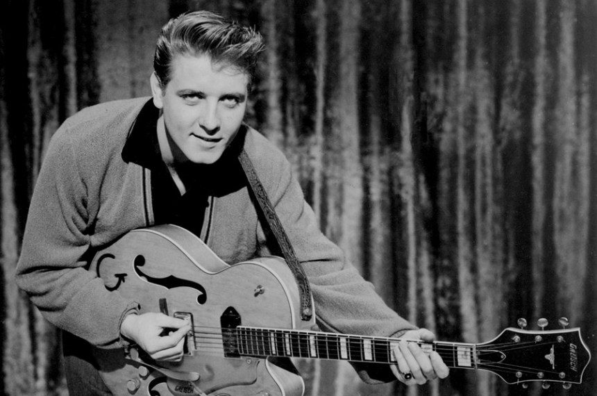 Eddy Cochran and his Gretsch guitar