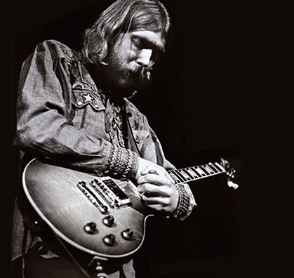 Duane Allman with his Les Paul burst