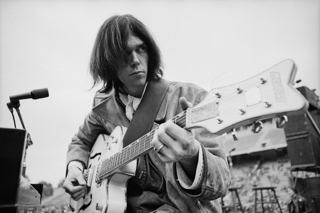 1969 - Neil Young plays his vintage Gretsch White Falcon