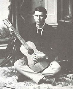 Orville Gibson with one of his early guitars