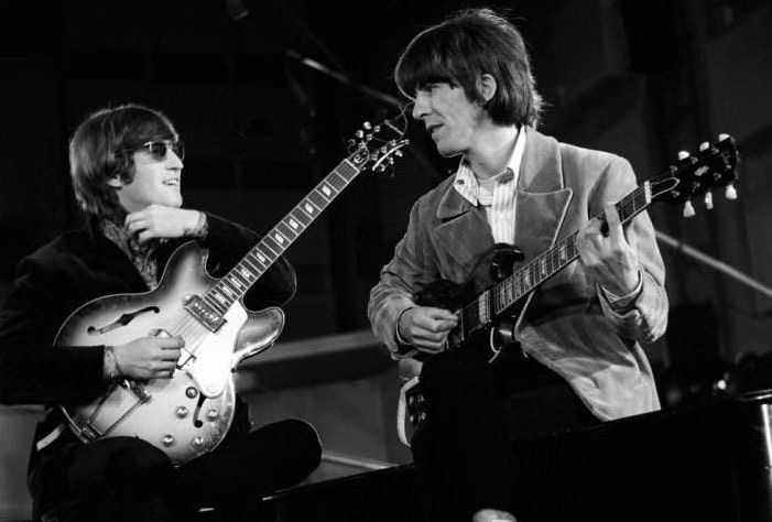 John and George with Casino and Gibson SG
