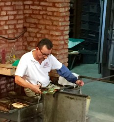 in glass making action