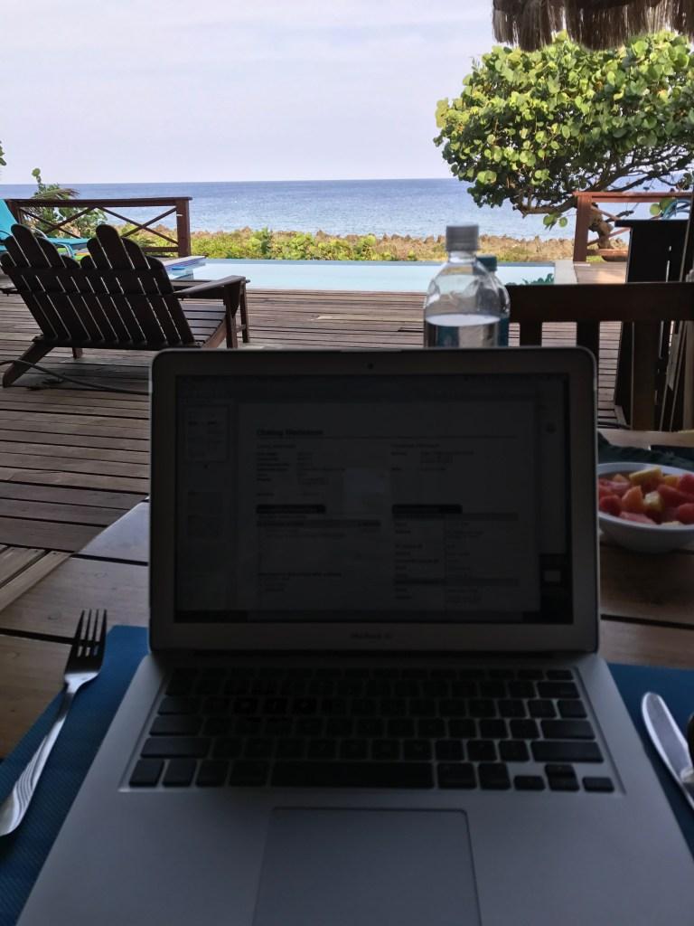Working Breakfast in Roatan