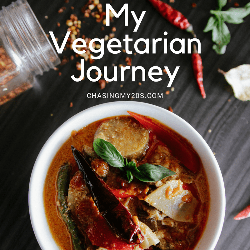 My Vegetarian Journey | Chasing My 20s