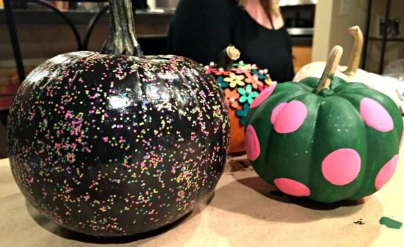 Painting Pumpkins at Book Club