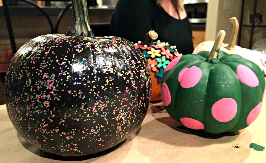 Painting Pumpkins at Book Club