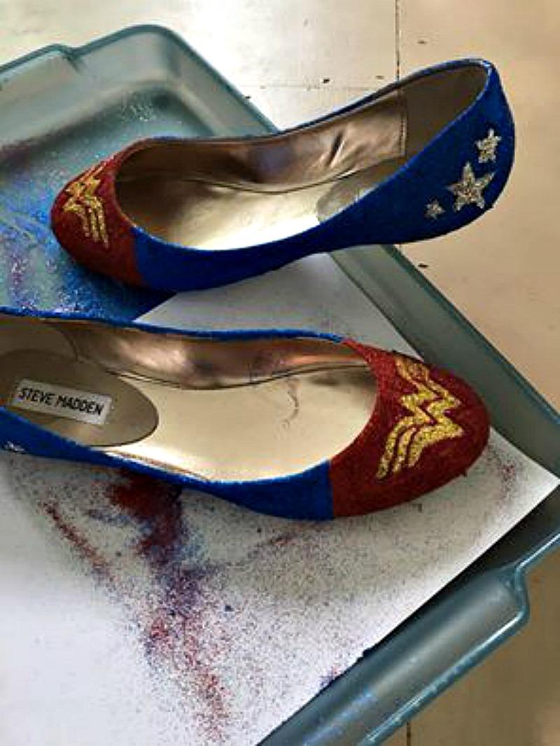 How to Make Football Glitter Heels