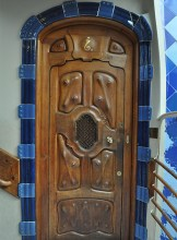 Door inside Casa Batllo - Chasing Starry Skies