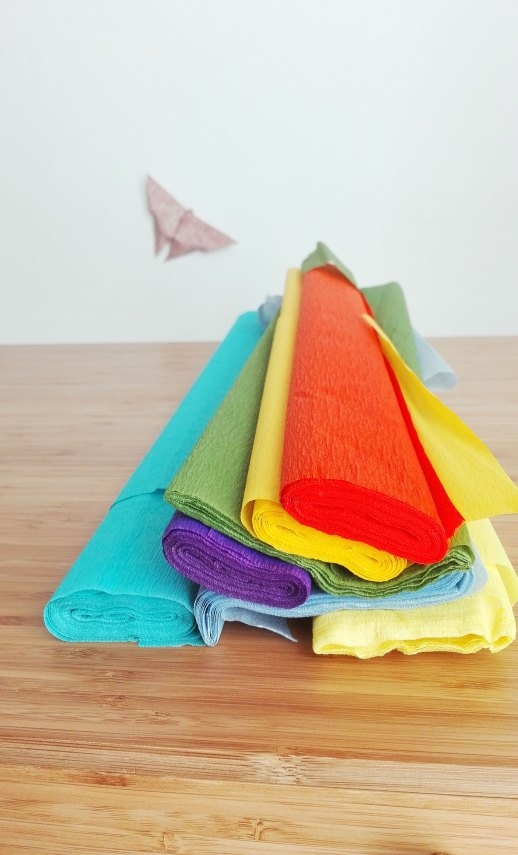 carta crespa colorata