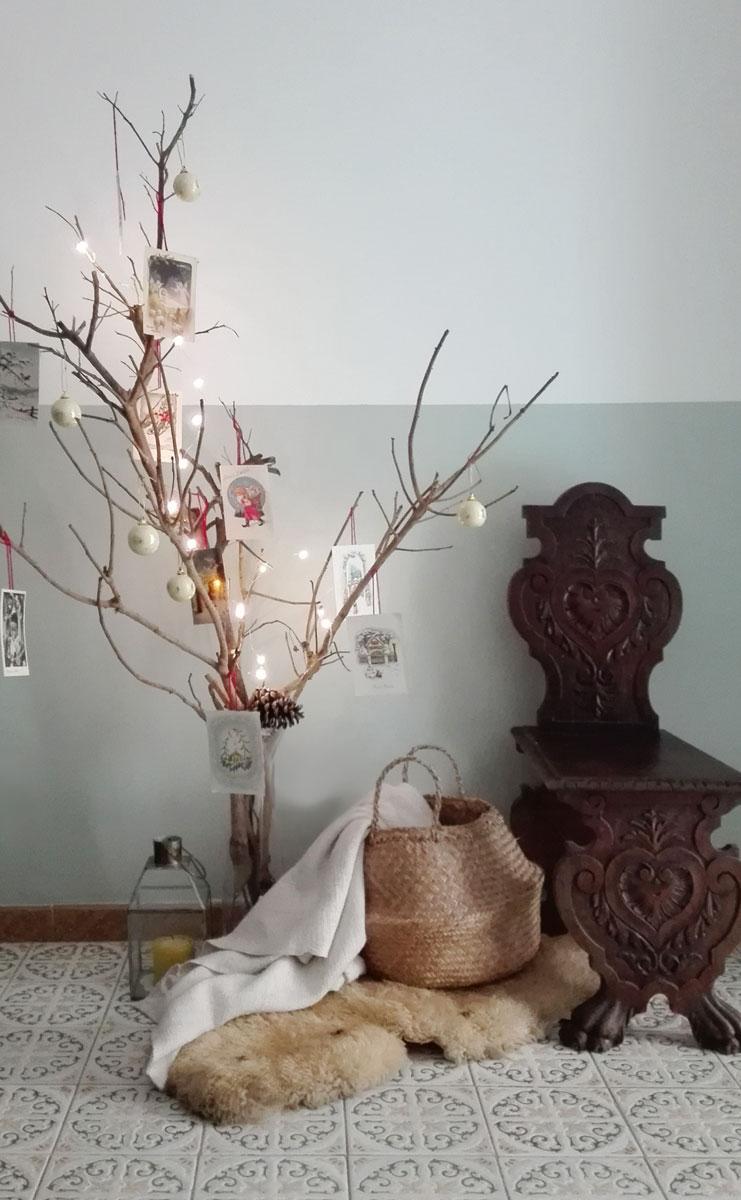 decorazione rami natalizi in stile vintage