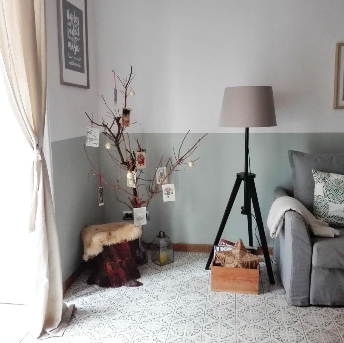 decorazione rami natalizi stile vintage