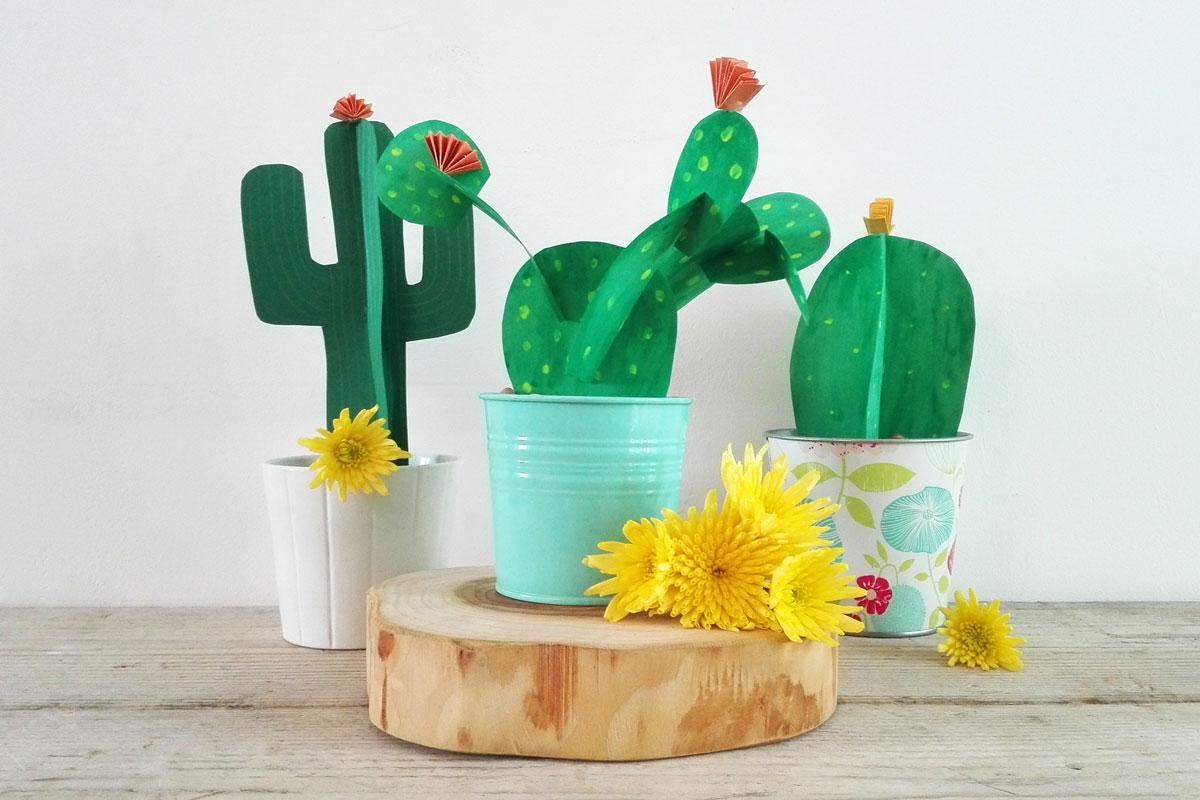 cactus di carta progetto fai da te