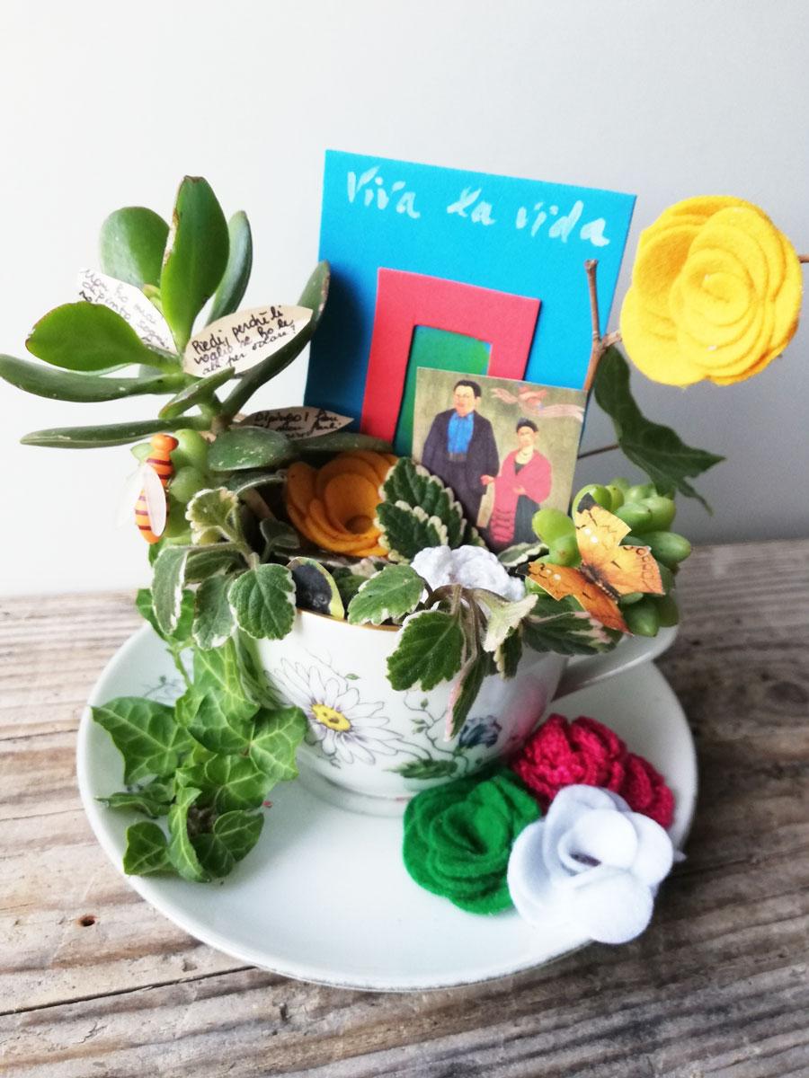 micro tazza giardino dedicata a Frida Kahlo