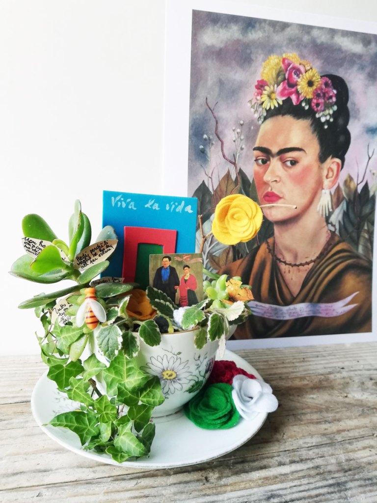 giardino in tazza dedicato a frida kahlo