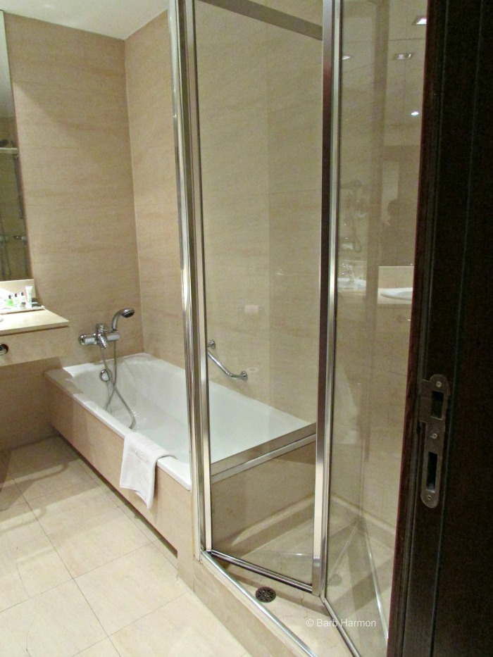 Fab tub and shower.