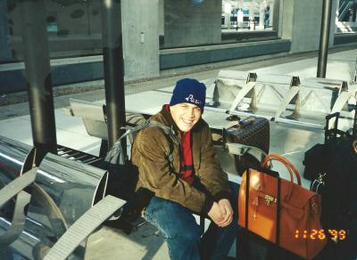 J.W at the TGV terminal at CDG airport in Paris