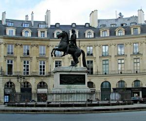 Place des Victoires in Paris, France