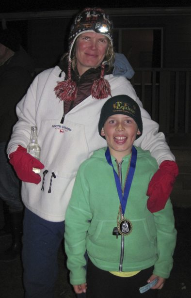 Hunter and Mom - medal
