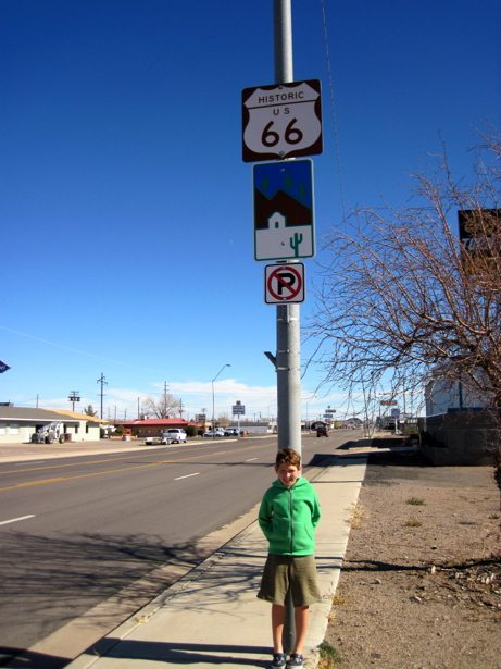 hunter route 66 road sign 2