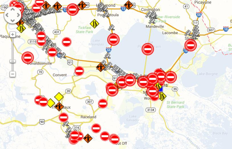 NOLA road closures jan 29th