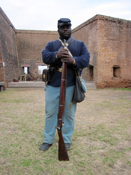 fort jackson soldier with musket