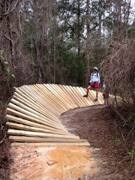lee hunter walking wooden berms