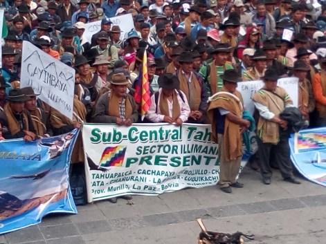 Subcentrales de Palca, presentes (Foto Chaski Klandestinx)