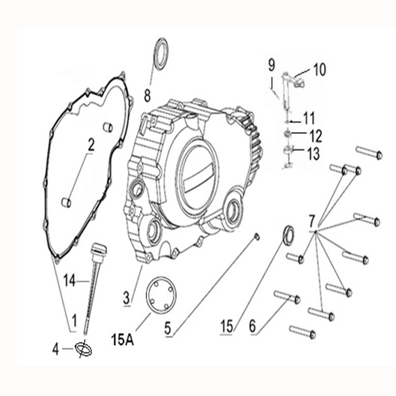 Clutch cover gasket for Keeway Superlight 125