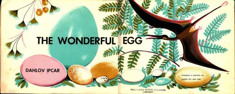 Title page of 1958's The Wonderful Egg by Dahlov Ipcar