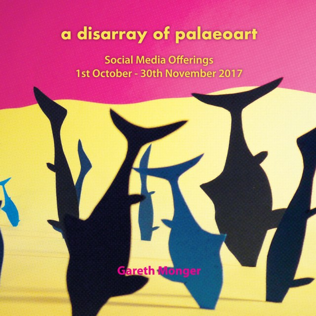 """Cover image fro Gareth Monger's """"A Disarray of Palaeoart"""""""