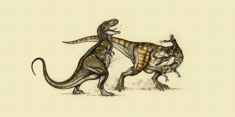Pot-bellied T. rex vs. Jurassic PArk T. rex