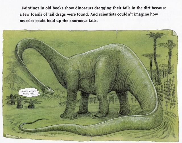 Tail-dragging sauropod