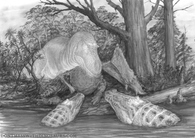 Thermal Daspletosaurus by Brian Engh - graphite stage