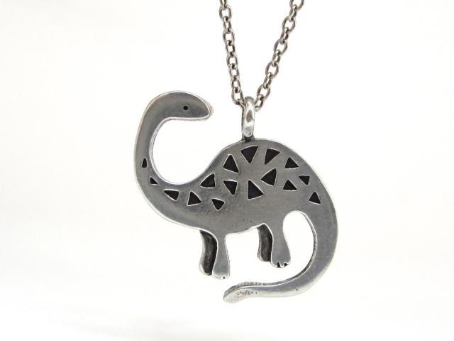 Silver sauropod pendant