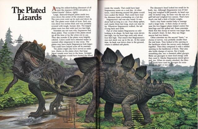 Ceratosaurus and Stegosaurus by Mark Hallett