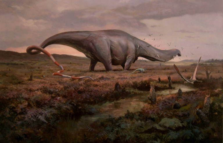 Apatosaurus louisae illustrated by Emiliano Troco