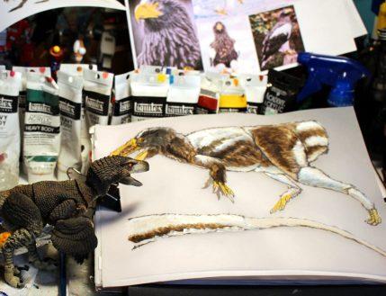 Image of Yutyrannus design for Creative Beast's new Tyrannosaur figure line.