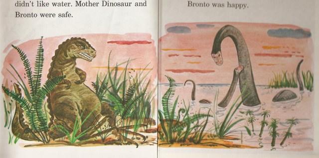 Bronto the Dinosaur interior illustration
