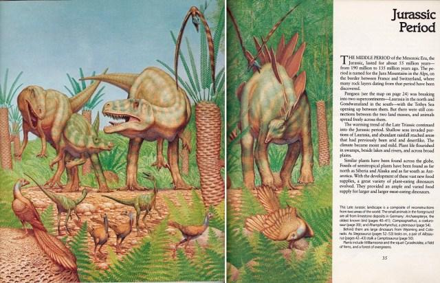 Composite Jurassic scene by Peter Zallinger